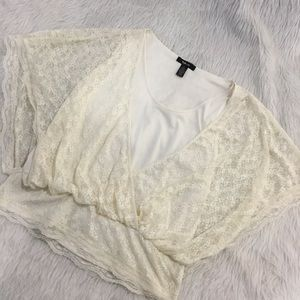 Style and co cream lace blouse